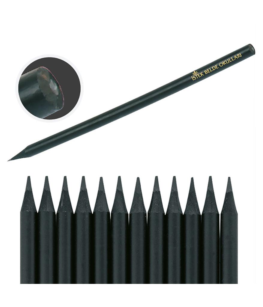 Latalı Siyah Yuvarlak Kurşun Kalem