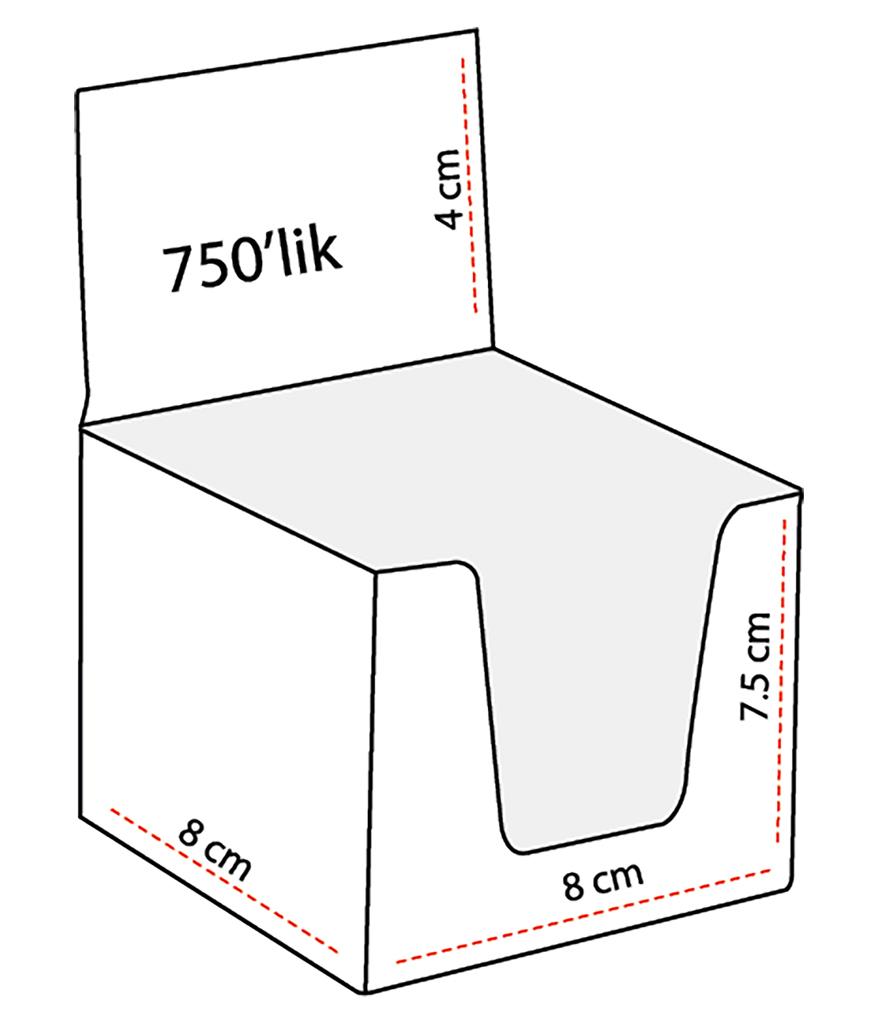 750 Yaprak Küp Bloknot