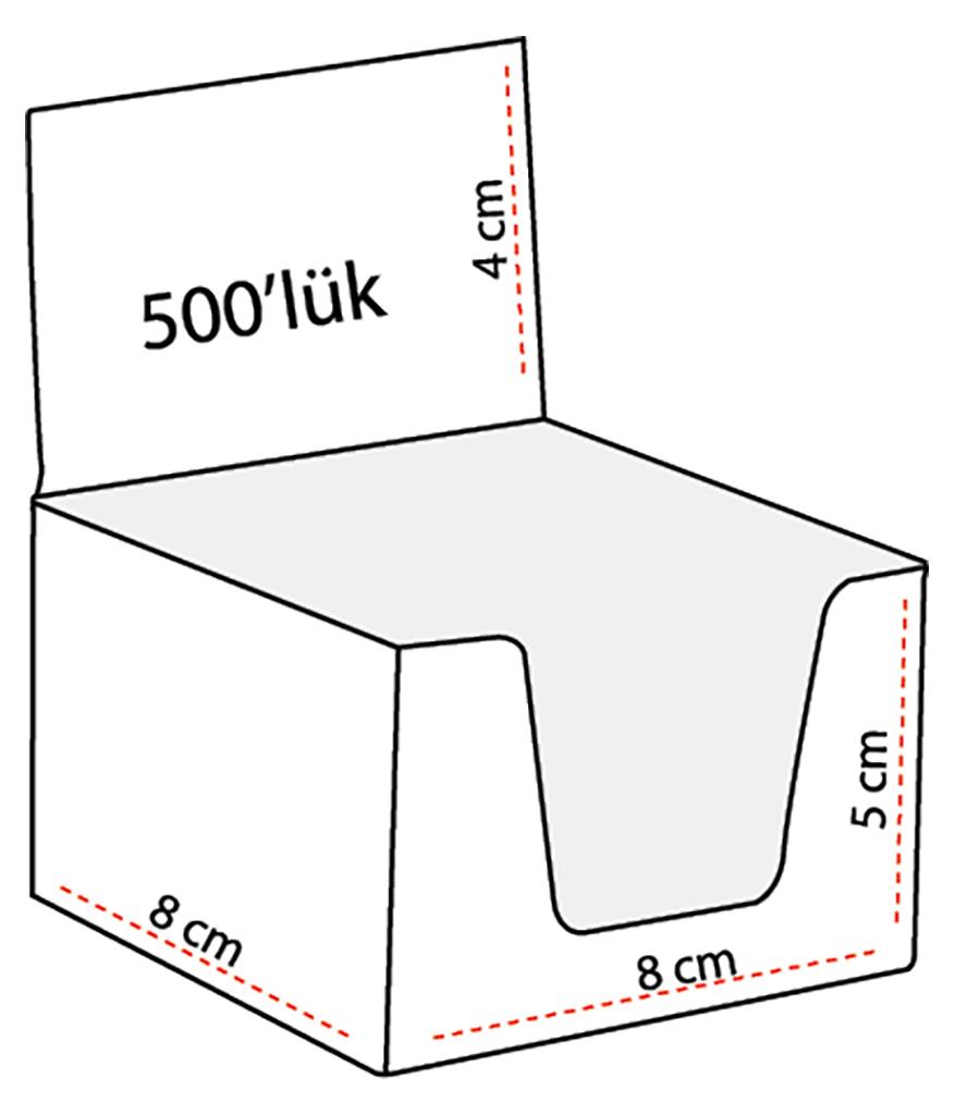 500 Yaprak Küp Bloknot