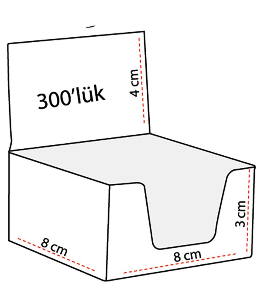 300 Yaprak Küp Bloknot
